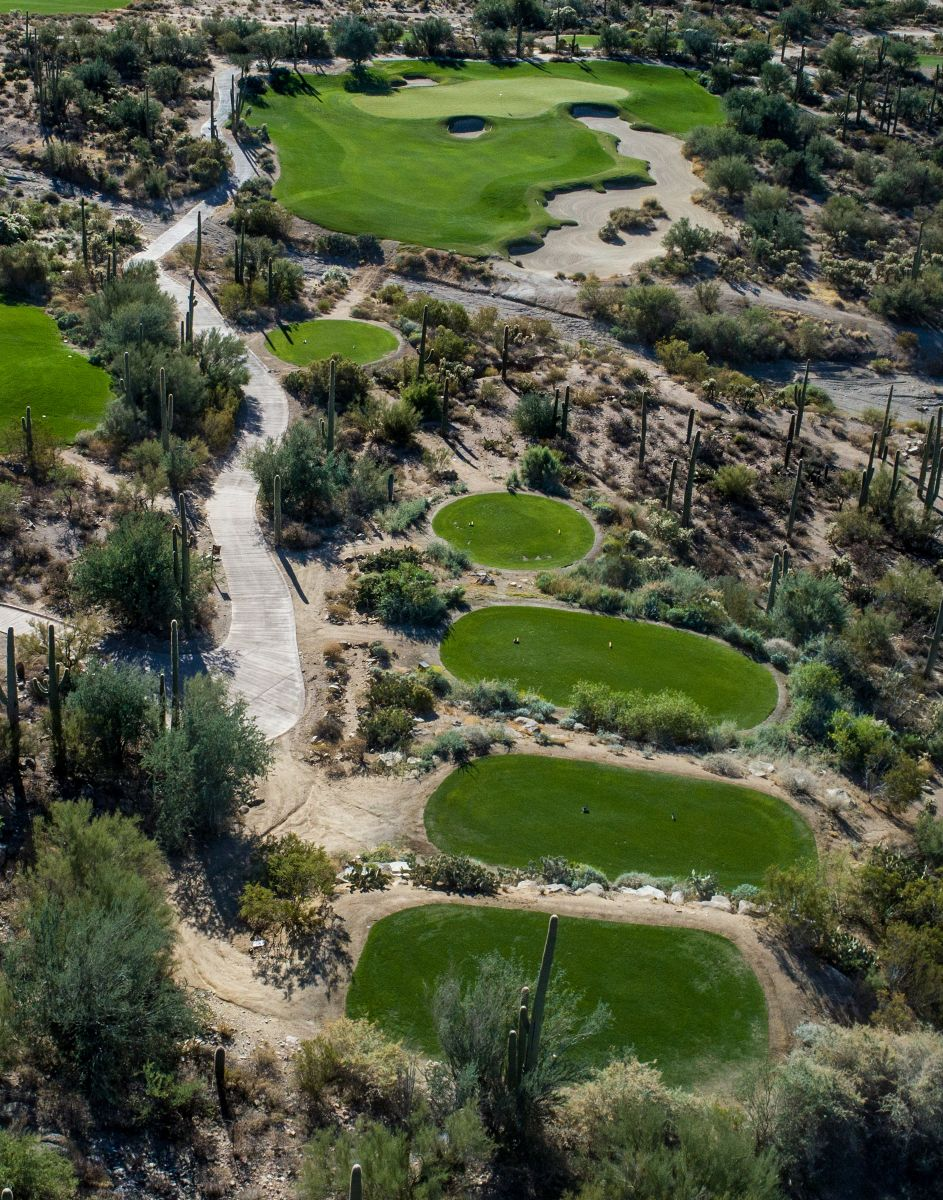 Aerial view of hole 3 on the Tortolita course