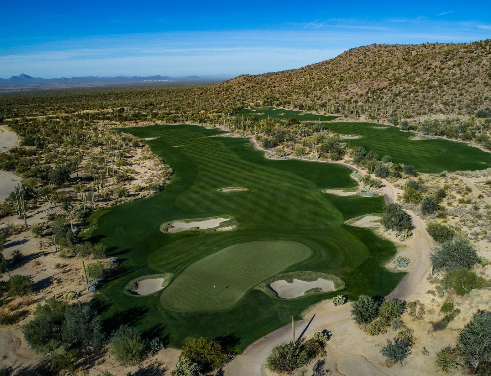 Aerial view of hole 4 on the Tortolita course