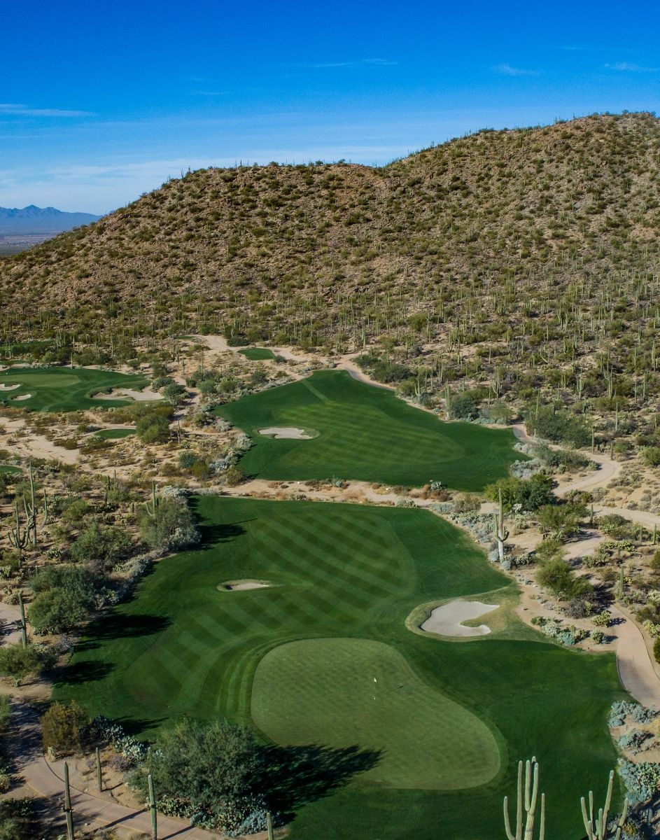Aerial view of hole 6 on the Tortolita course