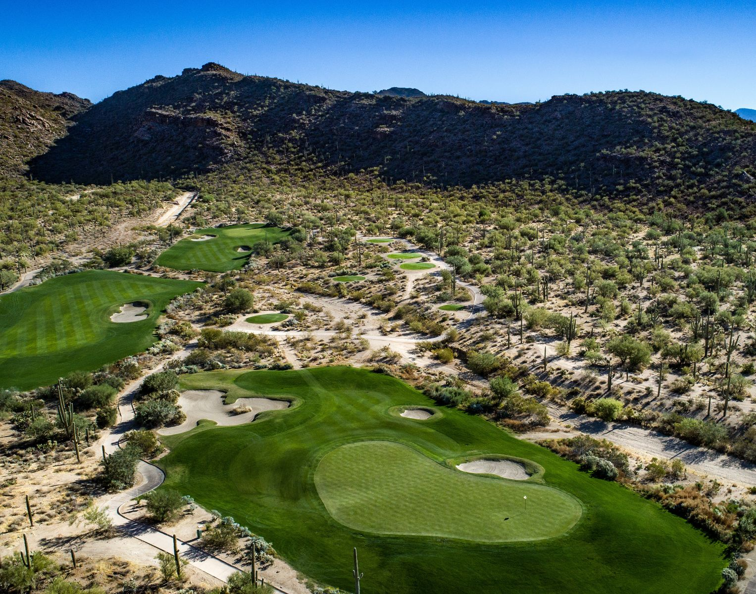 Aerial view of hole 7 on the Tortolita course