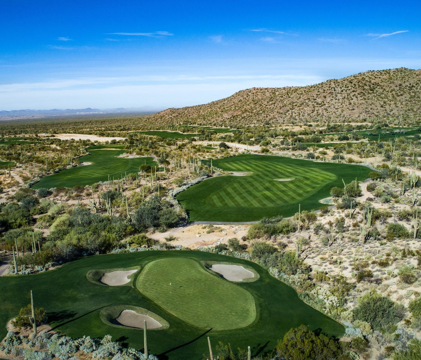 Aerial view of hole 9 on the Tortolita course