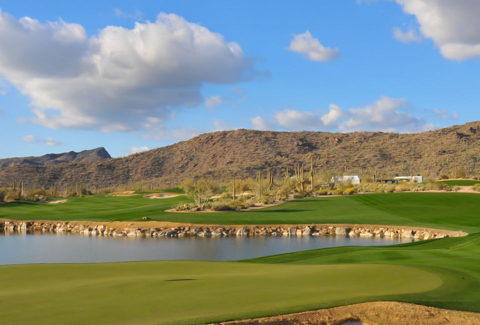Scenic backfrop at The Golf Club at Dove Mountain located in Tucson Arizona